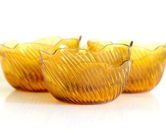 Amber dessert bowls, set of six