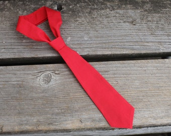 Valentine's Day Red Baby Boy Newborn Toddler Neck Tie Photo Prop