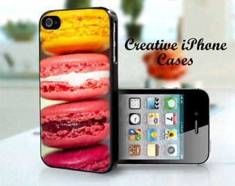 iPhone 5S Colorful Macaroons cookies case for iPhone 4, iPhone 4s, iPhone 5, iPhone 5s, iPhone 5C