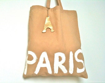 CUSTOM Paris Natural Eco Slow Fashion Ethical TOTE Bag / Eve Damon