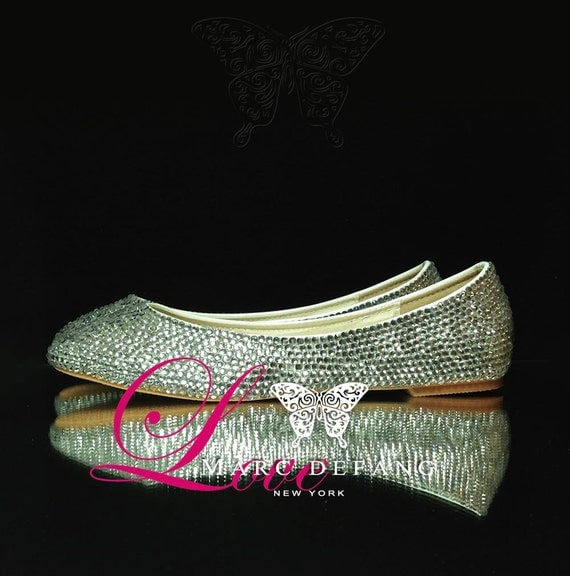 Classic Clear Crystal Luxury Flats