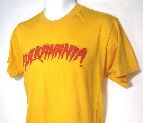 vintage hulkamania wwf hulk hogan tshirt szl 1980s