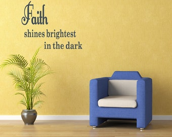 Wall Quotes Faith Shines Removable Wall Sticker Vinyl Wall Decal Quotes (C98)