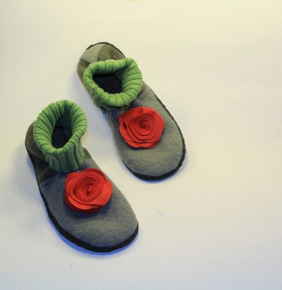 Eco Friendly Slippers: SALE:Women Eco-friendly Boiled Wool Slippers Boots By