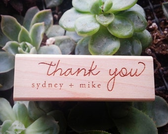 Thank You Stamp - Personalized - DIY Wedding Stationery