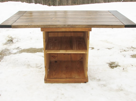 Kitchen Island Rustic Country Modern By EvergreenFurniture On Etsy