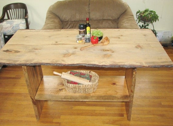 Kitchen island live edge almost any color by for Live edge kitchen island