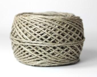 Hemp Yarn - Fine Romanian Hemp Twine - 12-strand Natural