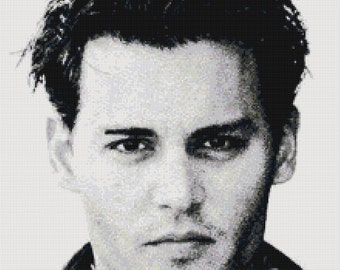 Handmade Johnny Depp PDF Cross-Stitch Pattern Chart Download