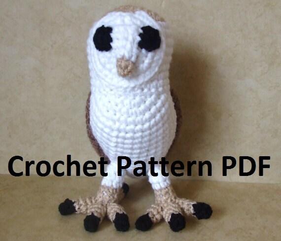 Barn Owl Crochet Pattern By CraftFrogPatterns On Etsy