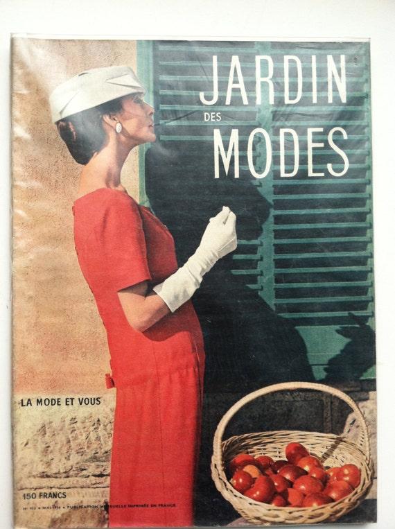 French Fashion Magazine: JARDIN DES MODES - Mai 1956