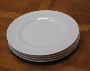Set of Four Off-White Dessert Bread Wedding Cake Plates