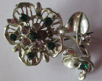 Vintage Costume Jewelry Brooch 1950's