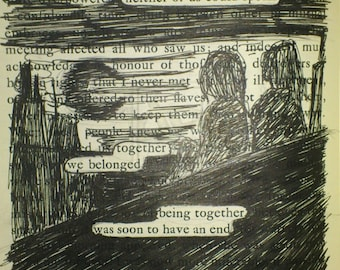 Print of found text poem 'fatal morning appeared'