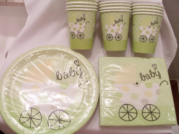 baby shower paper plate napkin set baby shower supplies decorations