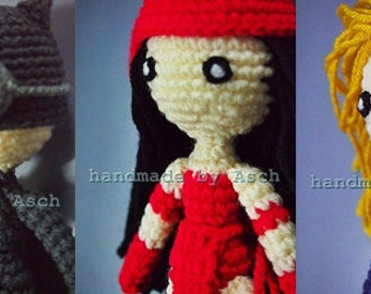 Finished Doll : Cat Woman, Elektra, Invisible dark