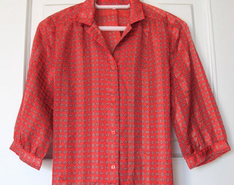 Joliet Vibrant Red Blouse