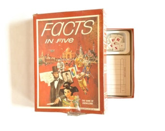 Facts in Five vintage family game