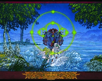 "Irish Art Print The Children of Lir. The Enchantment. 16x11"".Celtic, Irish, Ireland, Goddess, Witch, Wizard, Witchcraft, Swan, Folklore."