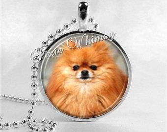 POMERANIAN Pendant Necklace Dog Breed Jewelry, Pomeranian Art, Gift for Pomeranian Owner, Dog Lover, Pomeranian Puppy Pom