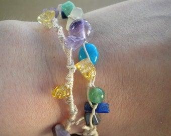 Custom- Reiki Infused Crystal & Hemp Bracelets- Made to Order