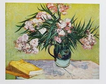 "On sale! 1952 Vincent van Gogh ""Oleanders"" 1888 reproduction print"