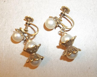 Downton Abbey Jewelry. Gatsby Era Earrings. Goldtone.GIFT. Downton Abby