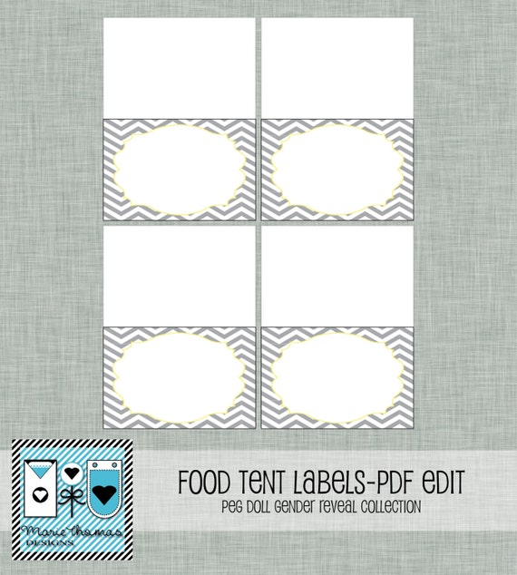 food tent card template free reveal food tent cards