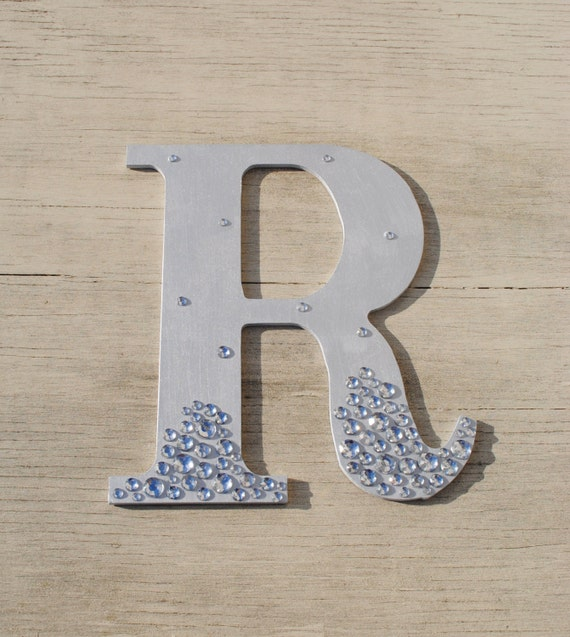 Silver semi bling sparkle wall letters wedding decor decorations - Sparkle wall decor ...