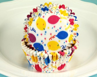 Party Ballons Cupcake Liners, 2'' Standard Size  Baking Cups Bulk