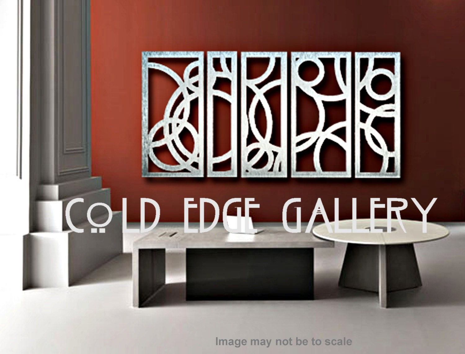 Extra large art metal wall art art decor by coldedgegallery for Big wall art