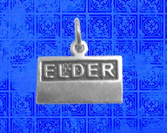 LDS Elder or Sister Missionary Name Tag Charm in Sterling Silver