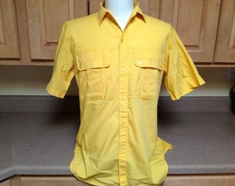Mens Vintage Short Sleeve Button Up