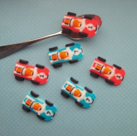 Race Car Cupcake Toppers Qty 12 Cars Cupcake By