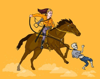 Cowgirl Warrior Zombie shirt