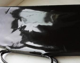 1960's Black Patten Leather Bag