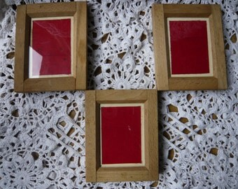 Early photography three contact printing frames  early models with wooden battens metal and window darkroom equipment 1890-1900 collectibles