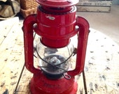 Vintage Red Lantern - Tropic - Chalwyn - Red - Made in England