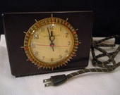 Kitchen Clock General Electric Household Timer - Bakelite Case -Original Cord - Working