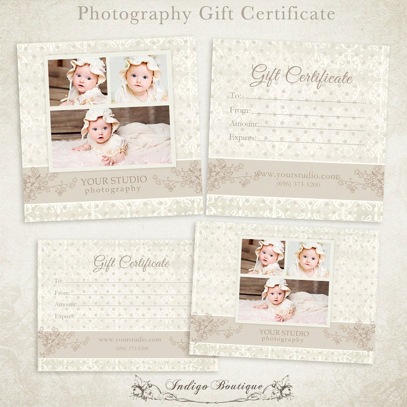 Photography gift certificate photoshop template 006 id0104 for Photoshop certificate template