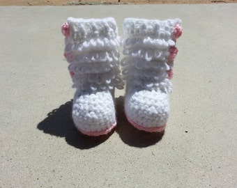 """Crochet Baby Boots - """"Furrylicious"""" Style"""