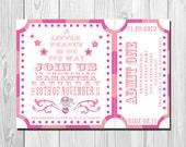 Carnival Baby Shower Invitation - Little Peanut - DIY - Printable