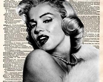 Marilyn Monroe Dictionary Art Print Digital Download marilyn monroe wall decor, marilyn monroe poster print dictionary art