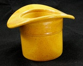 Haeger Mustard Top Hat Container