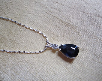 Natural Pear Iolite Accented Pendant