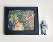 Gifted fools -To the stars-  5x7 - super cute wall art for space, stars and rocket lovers