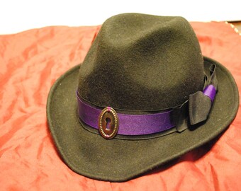 Mysterious Lockplate Fedora, Steampunk / Edwardian Hat
