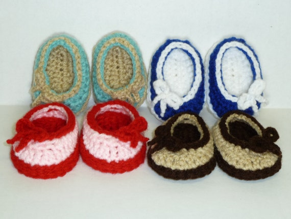 PDF CROCHET PATTERN - Simply Sweet Ballet Flats for American Girl Doll - Instant Download