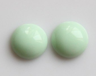 12 pcs of12mm round  RC1021-31-opaque mint green