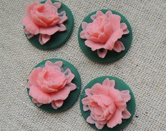 12 Pcs of Resin flower cabochon 18mm-RC0135-27
